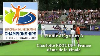 Charlotte FROUIN 6ème au Championnat d'Europe  RollerPiste 2016: Finale A Juniors Femmes au  300m vitesse @FFRollerSports #TvLocale_fr