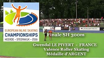 Gwendal Le PIVERT du Valence Roller Sports Médaille d'Argent au Championnat d'Europe  RollerPiste 2016 d'Heerde : Finale SH 300m vitesse @FFRollerSports #TvLocale_fr