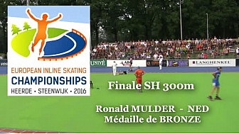 Ronald MULDER NED Médaille de BRONZE au Championnat d'Europe  RollerPiste 2016 d'Heerde : Finale SH 300m vitesse  @FFRollerSports #TvLocale_fr