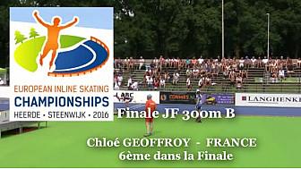 Chloé GEOFFROY  du club de Voujeaucourt 6ème au Championnat d'Europe  RollerPiste 2016: Finale B Juniors Femmes au  300m vitesse @FFRollerSports #TvLocale_fr #CPAL-Locminé