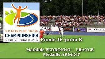 Médaille d'Argent pour Mathilde PEDRONNO Championnat d'Europe  RollerPiste 2016: Finale B Juniors Femmes au  300m vitesse @FFRollerSports #TvLocale_fr #CPAL-Locminé