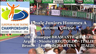 Giuseppe BRAMANTE 6 Italie Champion d'EUROPE 2016 de RollerPiste 1000m vitesse Juniors A @FFRollerSports #TvLocale