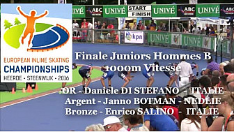 Daniele DI STEPHANO Champion d'EUROPE 2016 de Roller Piste en Vitesse 1000m JH B @FFRollerSports #TvLocale