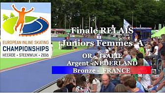L'Equipe de France en Relais Juniors A Femmes  Médaille de BRONZE au Championnat d'Europe à HEERDE - Pays Bas de Roller Piste  @FFRollerSports #TvLocale_fr