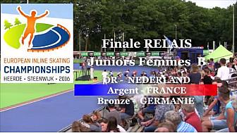 L'Equipe de France en Relais Juniors A Femmes  Médaille d'ARGENT au Championnat d'Europe 2016 HEERDE - Pays Bas de Roller Piste  @FFRollerSports #TvLocale_fr