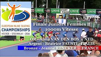 Jeanne RENCKER Médaillée BRONZE au Championnat d'Europe de  Roller Piste 2016 au JF B 1000m Vitesse @FFRollerSports #TvLocale_fr #TarnEtGaronne @Occitanie