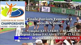 Marine Lefeuvre Médaillée de Bronze au Championnat d'Europe 2016 de RollerPiste en JF A 1000m Vitesse @FFRollerSports #TvLocale_fr