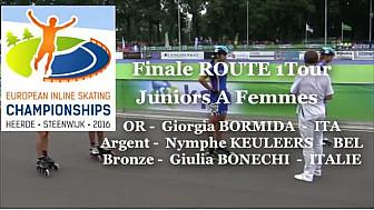 Finale Championnat d'Europe Roller Route 1 Tour: Juniors A Femmes à Heerde - Pays-Bas @FFRollerSports #TvLocale_fr