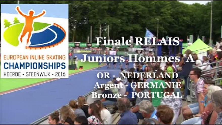 L'Equipe de NEDERLAND Relais Juniors A Hommes  Championne d'Europe 2016 à HEERDE - Pays Bas de Roller Piste  @FFRollerSports #TvLocale_fr