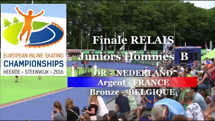 L'Equipe de France en Relais Juniors B Hommes  Médaille d'ARGENT au Championnat d'Europe 2016 HEERDE - Pays Bas de Roller Piste  @FFRollerSports #TvLocale_fr
