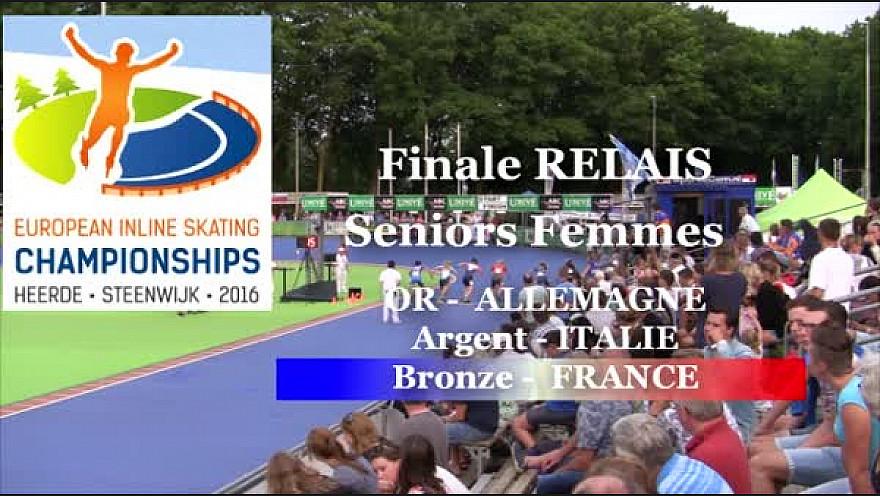 L'Equipe de France en Relais Séniors Femmes Médaille de BRONZE au Championnat d'Europe à HEERDE - Pays Bas de Roller Piste @FFRollerSports #TvLocale_fr
