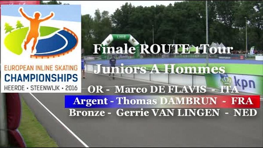 Thomas DAMBRUN Médaillé d'ARGENT Roller Route 1 Tour au Championnat d'Europe : Juniors A Hommes à Heerde - Pays-Bas @FFRollerSports #TvLocale_fr