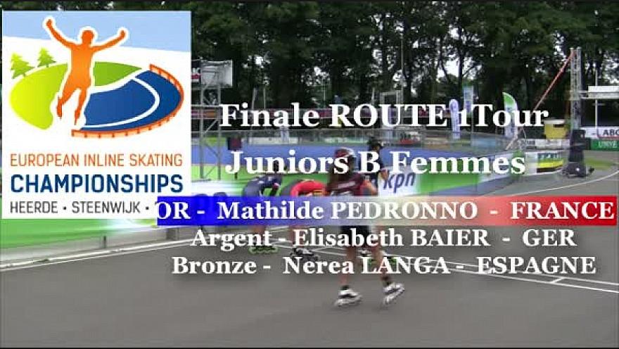 Mathilde PEDRONNO Championne d'Europe 2016 en Roller Route 1 Tour: Juniors B Femmes à Heerde - Pays-Bas @FFRollerSports #TvLocale_fr