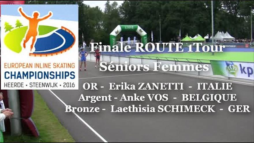 Erika ZANETTI - ITA Championne d'EUROPE 2016  Roller Route 1 tour à Heerde aux Pays-Bas